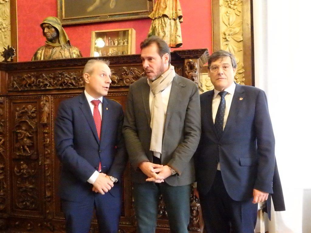 Recepción posterior en el Ayuntamiento de Valladolid.